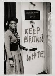 Keep Britain white' graffiti, Balham', Neil Kenlock, 1972, printed ...