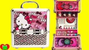 o kitty cosmetics kids makeup set with nail polish and lip gloss