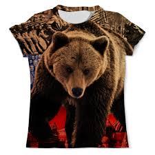 <b>Футболка</b> с полной запечаткой (мужская) Медведь Россия ...