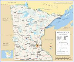 reference map of minnesota usa  nations online project