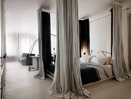 Enchanting Hang Curtain From Ceiling Decorating with How To Hang Curtains  From Ceiling Around Bed Home Design Ideas