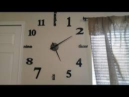 homy large wall clock decorative 3d diy