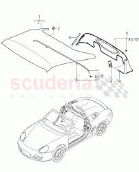 Convertible top covering weather deflector single parts