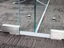 office glass door glazed. Single Glazed Frameless Glass Office Partitioning Door