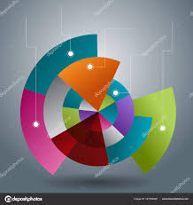 Transparent Pie Chart Overlapping Transparent Pie Chart Slices Stock Vector
