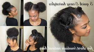 Quick And Easy Styles For Medium Natural Hair Quick Easy