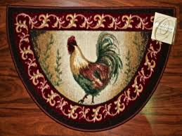 Round Rooster Kitchen Rugs Rooster Rugs For Kitchen Textiles And Rugs Ideas