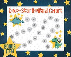 Dinosaur Potty Training Reward Chart Potty Training Reward Chart With 189 Star Stickers For Toddler Boys Or Girls Dinosaur Theme Large 11 X 17 Size