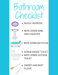 this free printable bathroom cleaning checklist for kids laminate it for a wipeable surface