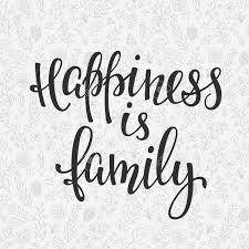 Le Bonheur Est La Famille Citation Lettrage Calligraphie Linspiration Design Graphique De Lélément De Typographie Main Carte Postale écrite