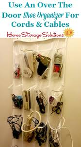 Cable and cord storage idea: Use an over the door shoe organizer {featured  on ...