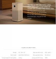 Máy lọc không khí Xiaomi Pro Gen 3H (Mi Gen 3 ) / Room 50m2 - Global  Version - Hãng Phân Phối