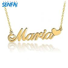 whole custom necklace in pendant necklaces popular design personalized any name with heart gold choker collare cadeau maitresse gold jewellery diamond