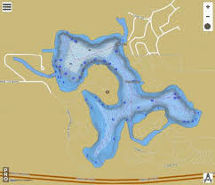 Barton Lake Depth Chart Barton Lake Steuben County Fishing Map