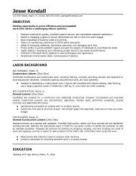 What Are Resume Objectives Resume Objective Examples For General Labor Menu and Resume 30