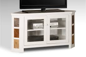 modern white laminated wooden tv stand furnished with framed glass doors with ikea tv