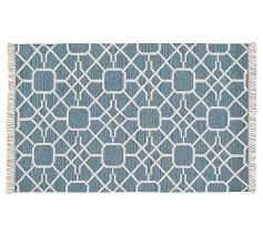 diamond maze synthetic indooroutdoor rug blue pottery pottery barn indoor outdoor