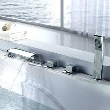 deck mount bathtub faucet triple handle deck mount waterfall tub faucet with deck mounted bathtub faucet