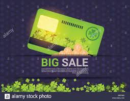 Credit Card Templates For Sale Big Sale For St Patrick Day Holiday Poster Template Credit Card