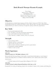 Personal Objectives Examples For Resumes Resume For Personal Banker Banking Resume Samples Resume For