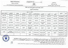 جدول امتحانات الثانوية العامة... - مدرسة الكرمل الثانوية للبنين