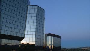 high tech modern architecture buildings. Day Up Angle Modern Glass Office Building Top Black Strip Adjacent All High Rise Hi Tech Architecture Buildings
