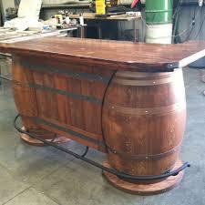 wine barrel bar plans. Custom Made Wine Barrel Bar For Our Saloon Themed Game Room. Plans Pinterest