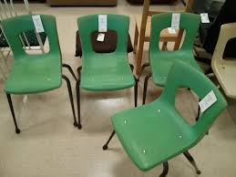 Uncomfortable Green School Chairs Another Mans Treasure