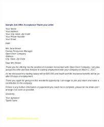 Accepting A Job Offer Letter Via Email Sample Inspirational Fer ...