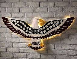 large patriotic metal american eagle