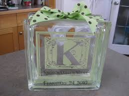 monogram ideas glass block