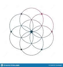 цветок эскиза татуировки священной геометрии жизни минимального на