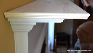 in process picture of turning a shallow mantle into a deeper mantle via worthing court