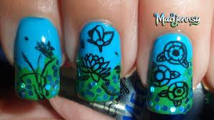 Lotus Pattern Nail Art Stamping Template-m66 Born Pretty Store ...