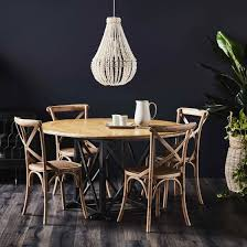 provincial oak round dining table 1400mm distressed black with 4 provincial cross back dining chairs oak package dining packages dining
