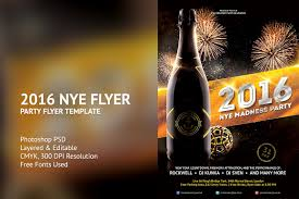 new years eve flyer template flyer templates on creative market