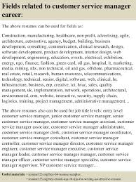 16 fields related to customer service manager service manager resume examples