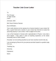 Teacher Job Cover Letter Example Create Photo Gallery For Website