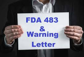 fda 483 and warning letter