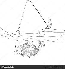 Immagini Disegno Pescatore Per Bambini Oggetto Su Sfondo Bianco