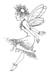 Cute Fairy Cute Fairycolouring Pagescoloring