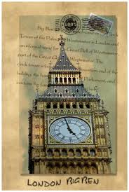 2pcs retro london big ben and brooklyn bridge poster wall pictures canvas art oil painting stretched ready to hang canvas print in painting calligraphy
