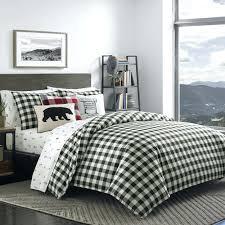 green plaid bedspread black white mountain plaid comforter set blue green plaid quilt