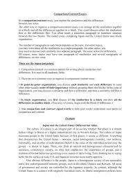 Essay Of Comparison And Contrast Examples Comparison Contrast Essays