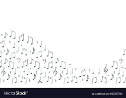 Line Notes Template Music Notes Background Banner Template Melody Vector Image