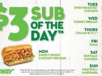 Subway Menu Calories Chart Subway Nutrition Facts