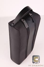 black leather bottle holder