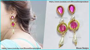 How To Design Earrings Jewellery How To Make Earrings At Home Jewelry Making Designer Earrings Diy