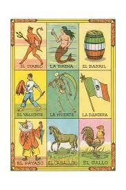 One of the more interesting historical versions was an educational , liturgical loteria that appeared in the 1930's. Mexican Loteria Cards Art Print Art Com