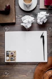 Profession Concept With Writer Tools On Work Desk Background Stock